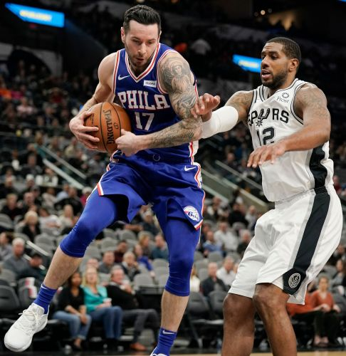 Gay scores 21 as the Spurs defeat 76ers 123-96