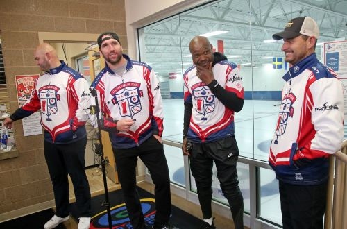 Former NFL Pro Bowl Players try curling with Olympic goal