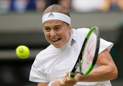 The Latest: Ostapenko in Wimbledon semifinal debut vs Kerber
