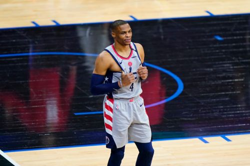 Sixers say fan that dumped popcorn on Russell Westbrook 'will be banned. indefinitely'