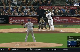 HIGHLIGHTS: Manny Machado crushes home run in Padres 2-0 win over Brewers