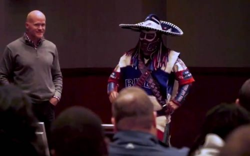 Bills superfan with Stage IV cancer gives chilling pep talk