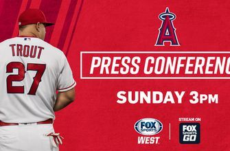Angels Press Conference featuring Mike Trout on FOX Sports West & FOX Sports Go
