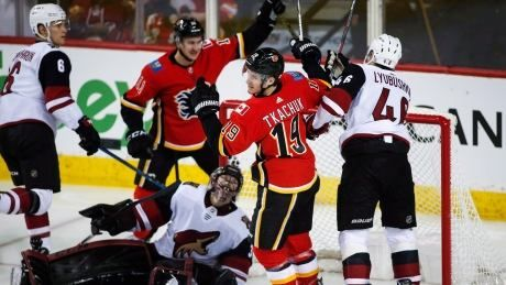 Flames impose will on Coyotes, continue to impress in West