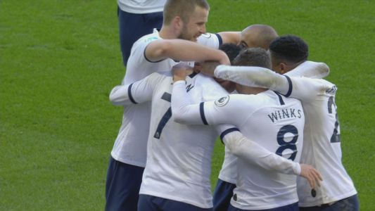 Son gives Tottenham the lead just before halftime