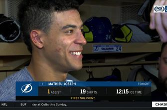Mathieu Joseph recaps win and his 1st NHL point