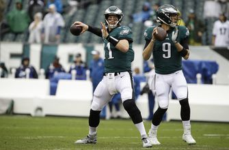 Wentz has stress fracture in back, questionable to face Rams