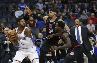 George scores 33 to help Thunder top Clippers 110-104