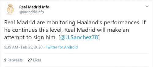 Erling Haaland Real Madrid transfer is ON again if this one thing happens
