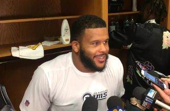 Aaron Donald all smiles after historic Rams victory
