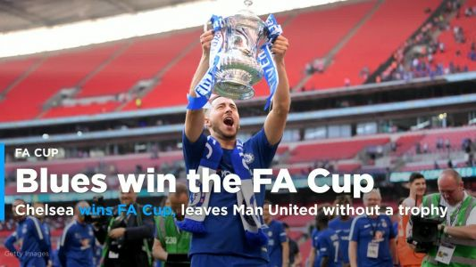 Chelsea wins FA Cup, leaves Manchester United without a trophy in 2017-18