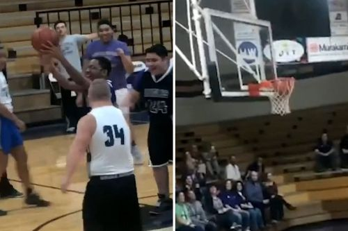This is the most heartwarming high school half-court shot