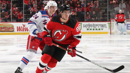 New Jersey Devils' Jack Hughes records first NHL point