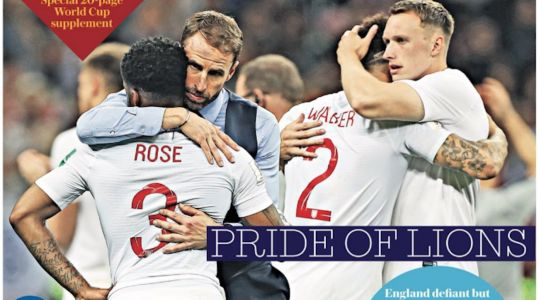 English Newspapers Celebrate World Cup Team After Heartbreaking Loss