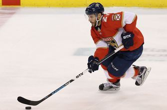 Getting a boost? Vincent Trocheck says he is close to returning to Panthers