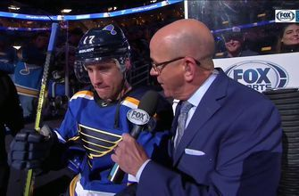 Schwartz after scoring hat trick and a Blues win: 'Everyone's been chipping in'