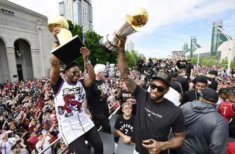 The Latest: Reports of shots fired at Raptors parade