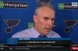 Berube: Blues 'didn't have very good execution' against Bruins