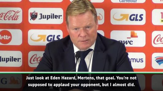 I nearly applauded Belgium's goal - Koeman