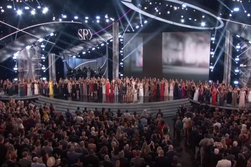 More than 100 Nassar victims take stage in emotional ESPYs moment