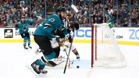 Sharks jump on Golden Knights to stay alive in series