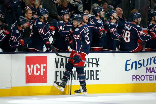 Watch: Blue Jackets' Sonny Milano scores ridiculous between-the-legs goal for Blue Jackets