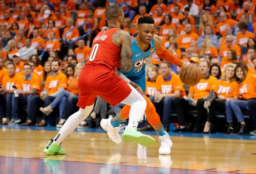 Russell Westbrook out-duels Damian Lillard as Thunder beat Blazers to cut deficit to 2-1