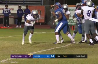 Week 5: Brandyn Jordan barrels through for Cathedral touchdown