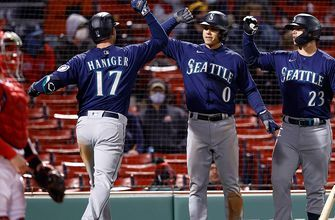 Mariners score four in the 10th inning to beat Red Sox, 7-4
