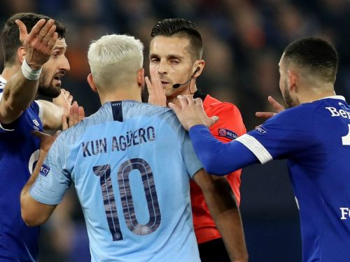 'Good this innit?!' - VAR mocked again as Schalke awarded controversial penalty against Man City