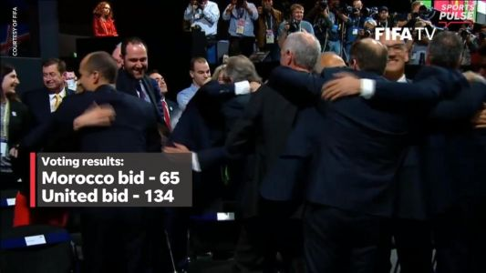 The moment North America was awarded 2026 World Cup
