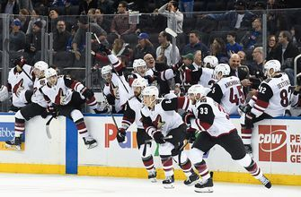 Stepan beats former team in OT to cap Coyotes comeback