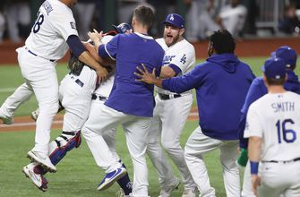 Dodgers celebrate, mob the mound after winning first World Series title in 32 years