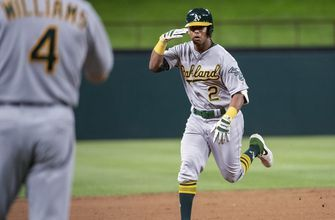 A's agree to new deal with slugger Khris Davis