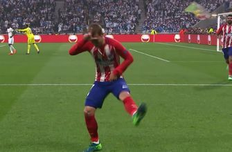 Griezmann strikes for Atletico Madrid | 2017-18 UEFA Europa League Highlights