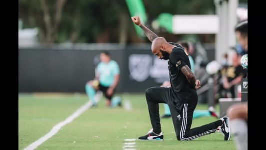 Thierry Henry kneels for first 8:46 of match in Impact's return to MLS play