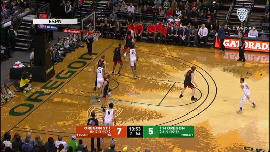 Highlights: No. 14 Oregon men's basketball cruises past Oregon State 69-54, remains undefeated at home