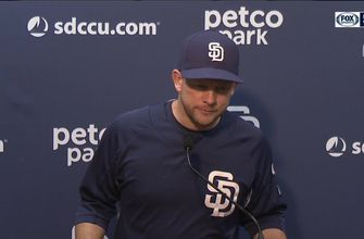 Padres manager Andy Green on the 8-4 win