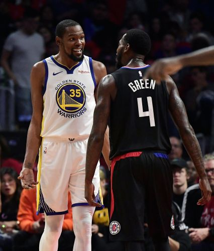NBA rescinds technical on Warriors' Durant, Clippers' Green