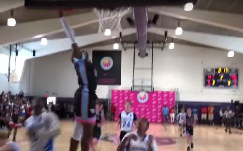 Fans chant 'overrated' at 13-year-old LeBron James Jr