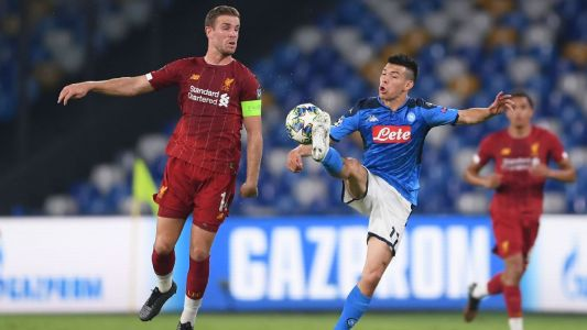 Napoli beats UCL holders Liverpool on late goals
