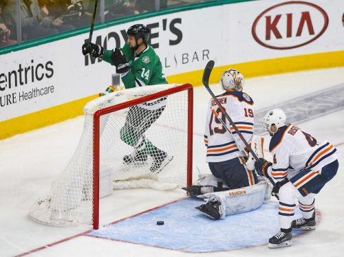 Benn's fifth goal in 6 games helps Stars beat Oilers 4-1