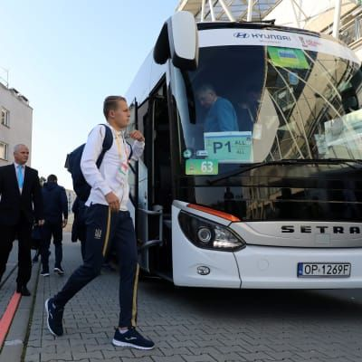Players of Ukraine arrive