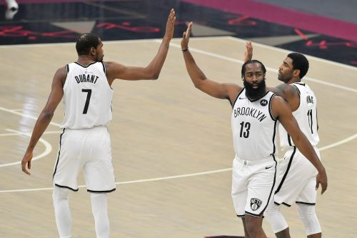 Opinion: Nets' Kevin Durant, James Harden, Kyrie Irving show flashes of offensive brilliance in first game together