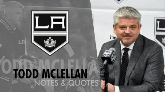Game 22: Todd McLellan Postgame Quotes After Kings fall 3-2 to Blues