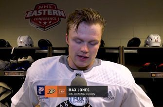 Max Jones and Troy Terry talk about joining the Anaheim Ducks