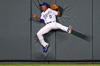 WATCH: Terrance Gore makes a leaping catch at the wall
