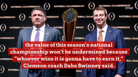 Dabo Swinney says the national title's value 'doesn't change' without the Big Ten, Pac-12