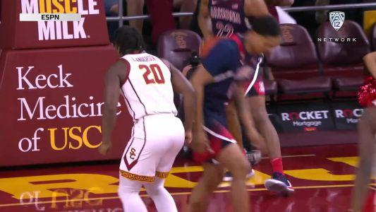 Highlights: Onyeka Okongwu records 11th double-double as USC men's basketball holds off Arizona