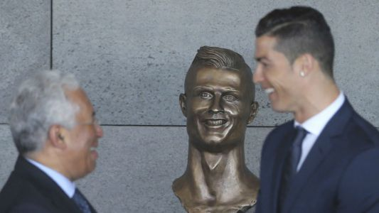 Infamous Cristiano Ronaldo bust gets much-needed makeover